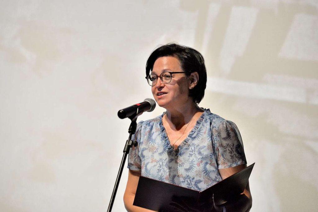 Katarzyna Pechman, twórczyni Herbertiady odczytała List Wicepremiera i Ministra Piotra Glińskiego